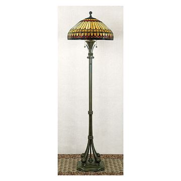 Quoizel Tf9320bb West End Tiffany Glass Floor Lamp - Brushed Bullion