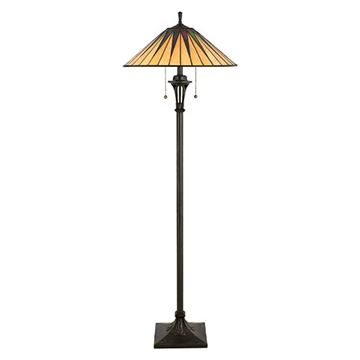 Quoizel Tf9397vb Gotham Tiffany Glass Floor Lamp - Vintage Bronze