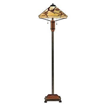 Quoizel Tf9404m Grove Park Tiffany Glass Floor Lamp - Multicolor