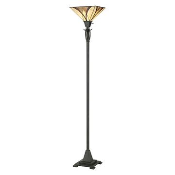 Quoizel Tfas9470va Asheville Tiffany Torchiere Lamp - Valiant Bronze