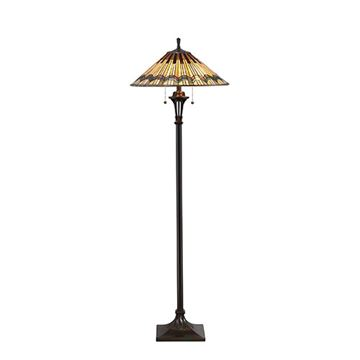 Quoizel Tfat9362va Alcott Tiffany Glass Floor Lamp - Valiant Bronze