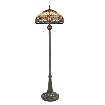 Quoizel Tfbf9362vb Belle Fleur Tiffany Floor Lamp - Vintage Bronze