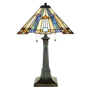 Quoizel TFT16191A1VA Inglenook Tiffany Table Lamp - Valiant Bronze
