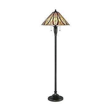Quoizel Tfvy9359va Victory Tiffany Glass Floor Lamp - Valiant Bronze