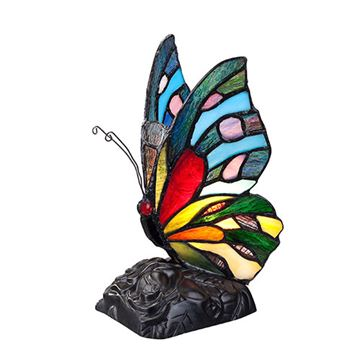 Quoizel Tfx1518t Rainbow Butterfly Tiffany Accent Lamp - Multicolor