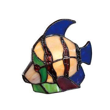 Quoizel Tfx1520t Angel Fish Tiffany Accent Figure Lamp - Multicolor