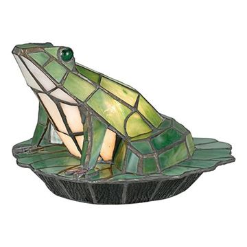 Quoizel Tfx837y Green Frog Tiffany Accent Figure Lamp - Multicolor