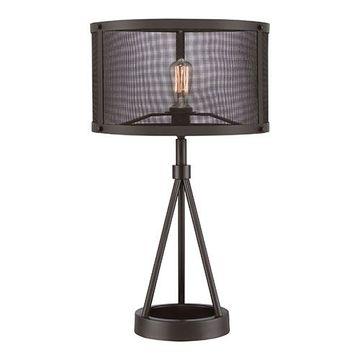 Quoizel Ust6127wt Union Station Steel Table Lamp - Western Bronze