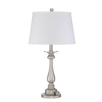 Quoizel Vvky6328bn Vivid Kingsley Table Lamp - Brushed Nickel