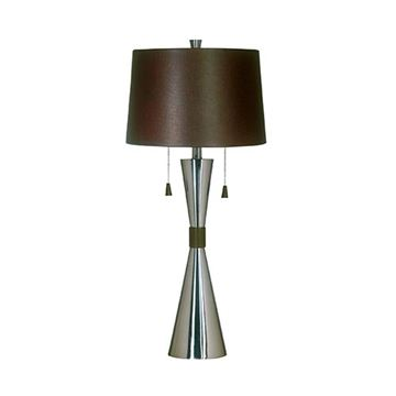 Kenroy Home 02371 Bella Table Lamp - Brushed Steel