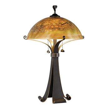 Kenroy Home 20085CHC Santa Fe Table Lamp - Chocolate Caramel