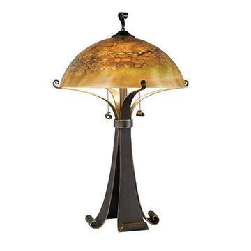Kenroy Home 20085CHC Santa Fe Table Lamp - Chocolate Caramel