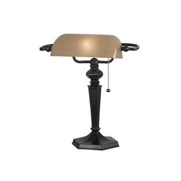 Kenroy Home 20610ORB Chesapeake Banker Lamp - Oil Rubbed Bronze