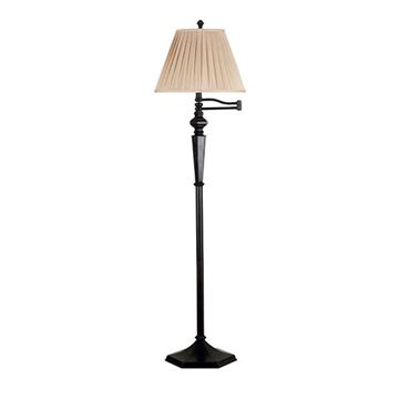 Kenroy Home 20612orb Chesapeake Swing Arm Floor Lamp - Rubbed Bronze