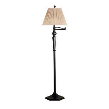 Kenroy Home 20612ORB Chesapeake Swing Arm Floor Lamp - Rubbed Bronze