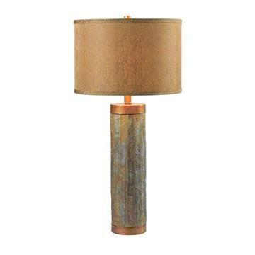 Kenroy Home 21036SL Mattias Table Lamp - Natural Slate & Copper