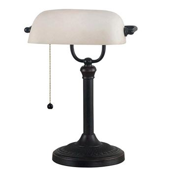 Kenroy Home 21394ORB Amherst Banker Lamp - Oil Rubbed Bronze