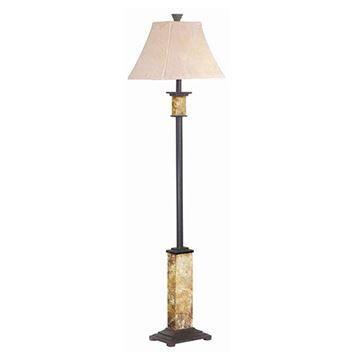 Kenroy Home 31204 Bennington Floor Lamp - Natural Slate