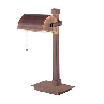 Kenroy Home 32008VC Welker Desk Lamp - Vintage Copper