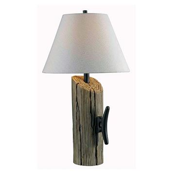 Kenroy Home 32055WDG Cole Table Lamp - Wood Grain