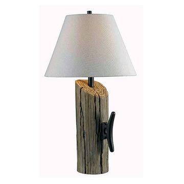 Kenroy Home 32055WDG Cole Table Lamp - Wood Grain