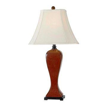 Kenroy Home 32070CRD Onoko Table Lamp - Crimson Red