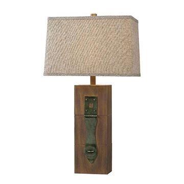 Kenroy Home 32091WDG Locke Table Lamp - Wood Grain