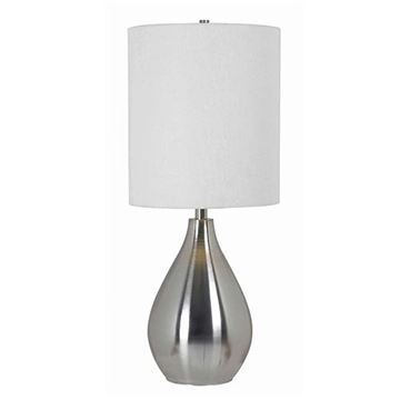 Kenroy Home 32156BS Droplet Table Lamp - Brushed Steel