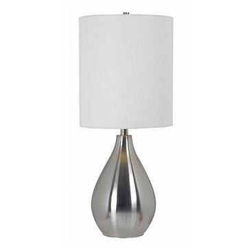 Kenroy Home 32156BS Droplet Table Lamp - Brushed Steel