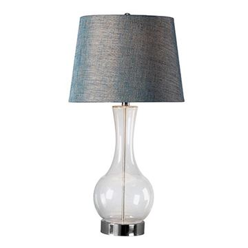 Kenroy Home 32255CLR Decanter Table Lamp - Clear Glass