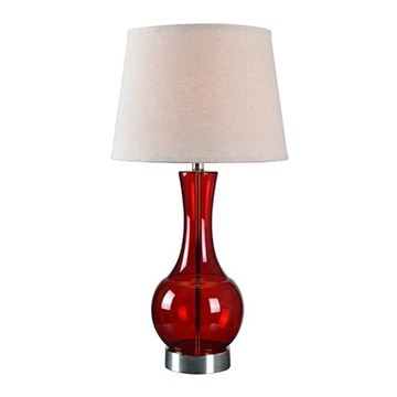 Kenroy Home 32255RED Decanter Table Lamp - Red Glass