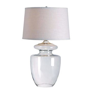 Kenroy Home 32260clr Apothecary Table Lamp - Clear Glass