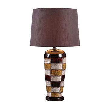 Kenroy Home 32273CER Torino Table Lamp - Ceramic Multicolor Squares