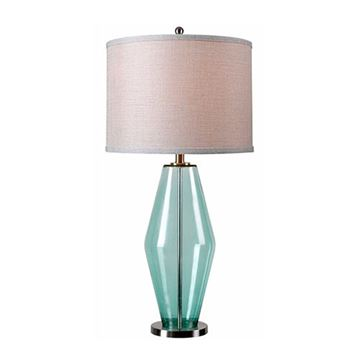 Kenroy Home 32315TEAL Azure Table Lamp - Teal Glass
