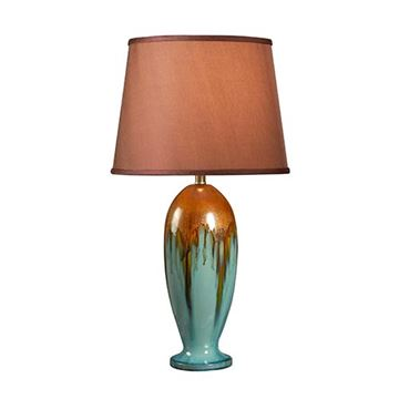 Kenroy Home 32366teal Tucson Table Lamp - Teal Ceramic Glaze