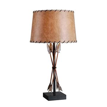 Kenroy Home 32557ATW Bound Arrow Table Lamp - Antique Wash