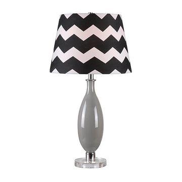 Kenroy Home 32724gry Horizon Table Lamp - Gray Glass