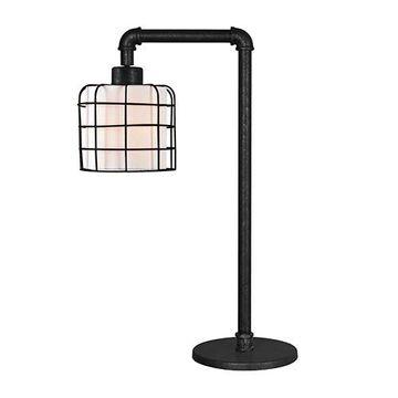 Kenroy Home 32773BRZG Alcatraz Table Lamp - Bronze Graphite