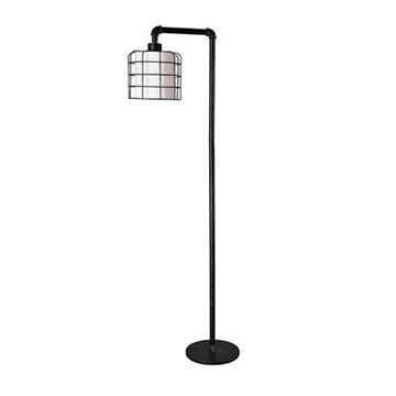 Kenroy Home 32774BRZG Alcatraz Floor Lamp - Bronze Graphite