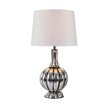 Kenroy Home 32809MER Murdoch Table Lamp - Mercury Glass