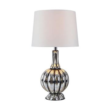 Kenroy Home 32809MER Murdoch Table Lamp - Mercury Glass