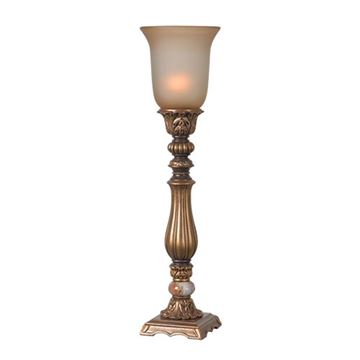 Kenroy Home 32810GLD Turner Table Torchiere - Gold Antiqued