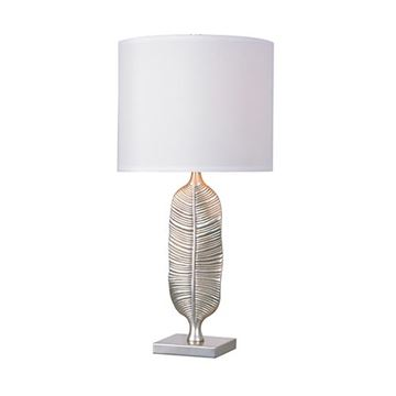 Kenroy Home 32829SIL Calathea Table Lamp - Silver