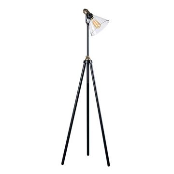 Kenroy Home 32858ORB Outlook Floor Lamp - Bronze & Antique Brass