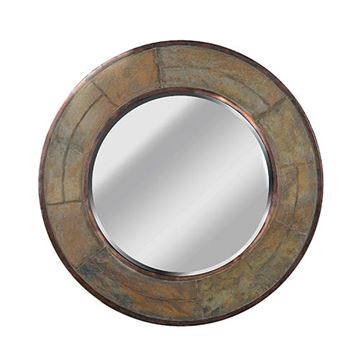 Kenroy Home 60087 Keene Wall Mirror - Natural Slate
