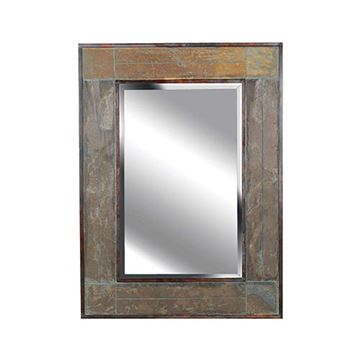 Kenroy Home 60089 White River Wall Mirror - Natural Slate