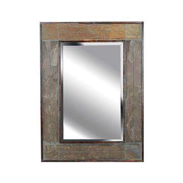 Kenroy Home 60089 White River Wall Mirror - Natural Slate