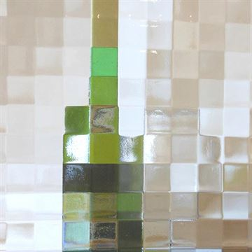 Restorers Cross Reed Custom Decorative Architectural Glass