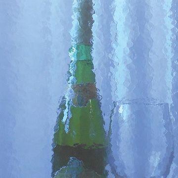 Restorers Lapis Colored Custom Decorative Architectural Glass