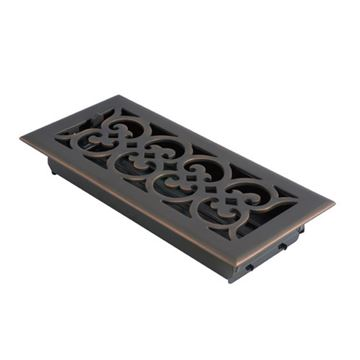 Brass Accents Scroll Register Vent